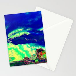 Big Cloud Over The Beach Stationery Cards