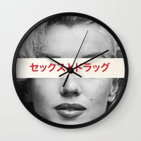 alcohol Wall Clocks featuring Sex, Drugs & Alcohol by naelshureih