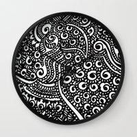 henna Wall Clocks featuring Henna me  by Designs by NN