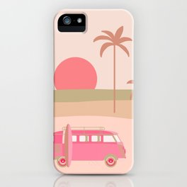 Surfers Paradise Boho Beach Spot With Camper Van iPhone Case