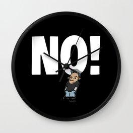 No! no.1 white Wall Clock