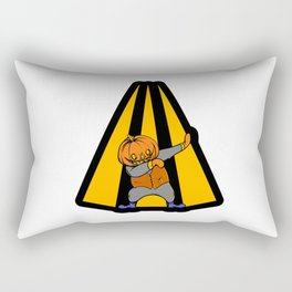 Funny Dabbing Human Pumpkin Head Halloween Dabbing Rectangular Pillow