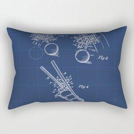 Billiard Bridge Vintage Patent Hand Drawing Rectangular Pillow