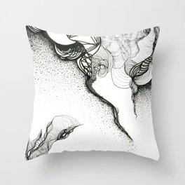 Creeping corners Throw Pillow