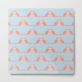 Cute Funny Cat Pattern Metal Print