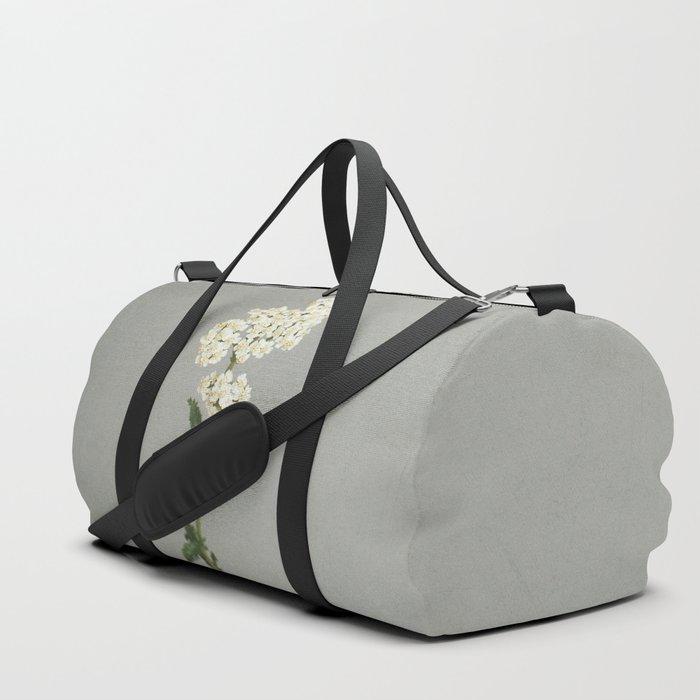 White Flowers Duffle Bag