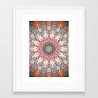 mandala Framed Art Prints featuring manDala by Monika Strigel