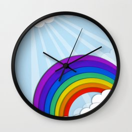 Rainbow. Wall Clock