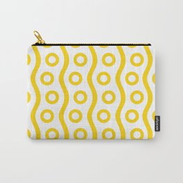 Mid Century Modern Rising Bubbles Pattern Yellow 2 Carry-All Pouch