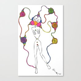 Connected 3 Canvas Print