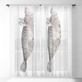 Manatee Sheer Curtain