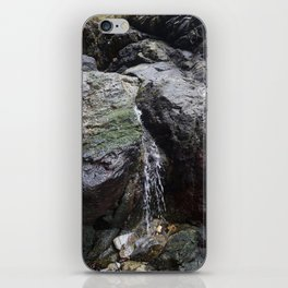 Cornish Waterfall Over Mossy Cliff iPhone Skin