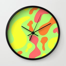 bright sunny abstract pattern decor design Wall Clock