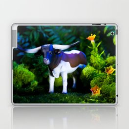 A Steer Cattle Cow at Night Laptop & iPad Skin