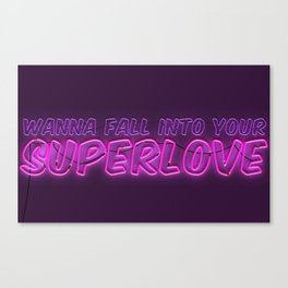 SuperLove / Charli XCX Canvas Print