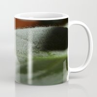 hot fuzz Mugs featuring Leaf-Fuzz by Christian Gholson