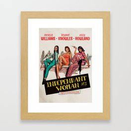 Independant Woman Framed Art Print