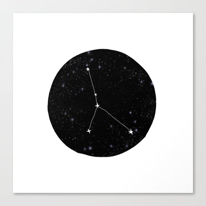 Cancer zodiac constellation star chart night sky star signs Leinwanddruck