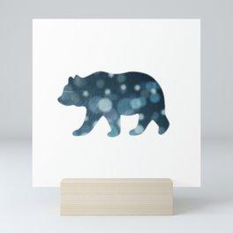snow bear Mini Art Print