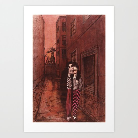 As Long as You're Here (The Lovers) Art Print