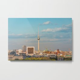 Berlin City Skyline - Cityscape and Tv Tower in Berlin, Germany Metal Print