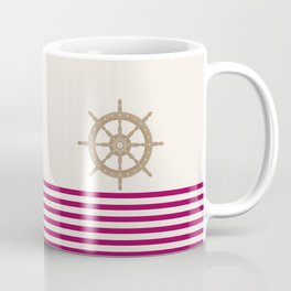 AFE Gold Nautical Helm Wheel Coffee Mug