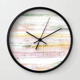 Baby powder abstract watercolor Wall Clock