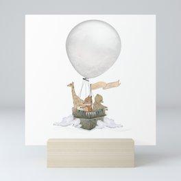 a little balloon adventure Mini Art Print