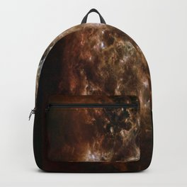 brown white Backpack