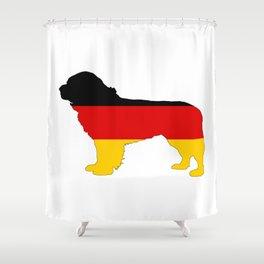 German Flag - Newfoundland Dog Shower Curtain