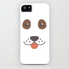 Dog Emoji Cute Bloodhound iPhone Case