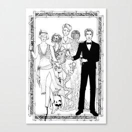 Blind Gory Gala Canvas Print