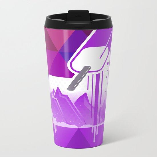 Grape Popsicle Metal Travel Mug