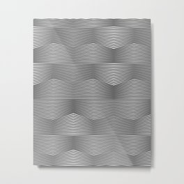 Moiré Waves One Metal Print
