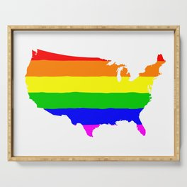 United States Gay Pride Flag Serving Tray