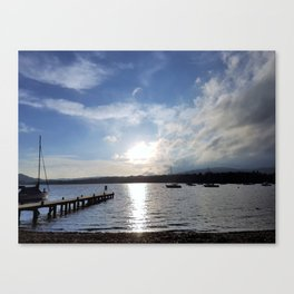 Afternoon Sun on Lake Windermere Canvas Print