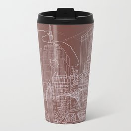 New York! Clay Metal Travel Mug