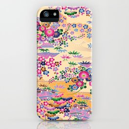 SUMI WITH PINK FLOWERS iPhone Case