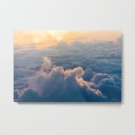 cloud and sun Metal Print