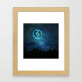 Planetary Soul Haven Night Framed Art Print