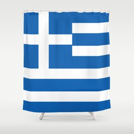 Greek Flag National Flag of Greece Shower Curtain