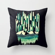 Sunrise in Vertical - Winter Blues Throw Pillow