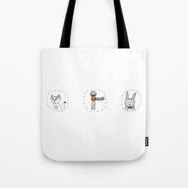 Cat, Swan & Bunny Tote Bag