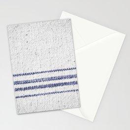 Vintage Farmhouse Grain Sack Indigo Blue Stationery Cards