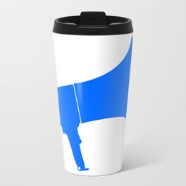 Blue Isolated Megaphone Travel Mug