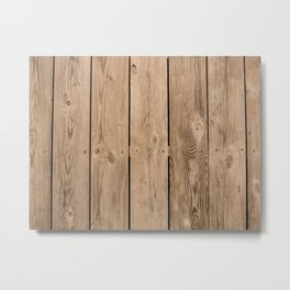 Wood I Metal Print