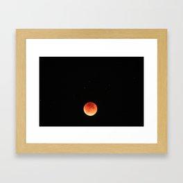 Super Blood Moon Framed Art Print