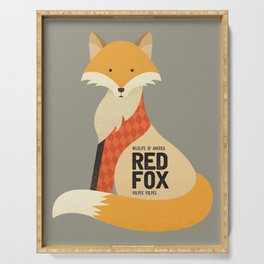 Hello Red Fox Serving Tray