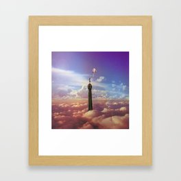 Girl on the Tower Framed Art Print