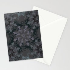 Damask, grey Stationery Cards